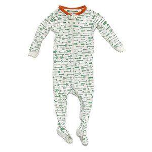 Baby Gap Light Cotton Green Arrow Print Footed PJ